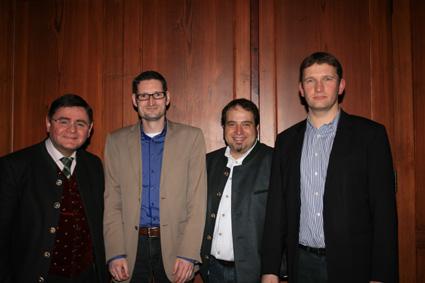 Auf dem Bild vlnr: Landrat Erwin Schneider, Christian Snoppek, Marcus Köhler und Dr. Tobias Windhorst.